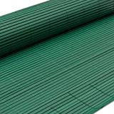 eyepower PVC Sichtschutz-Matte 90x300cm Sichtschutz Doppelstabmatte Balkon-Verkleidung Balkonblende Gartenzaun Windschutz Deko Zaun Grün