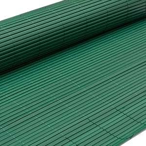 eyepower Canisse en PVC 100x300cm | rouleau en plastique brise vue pare soleil coupe vent clôture barrière déco ombrager jardin balcon terrasse | Vert