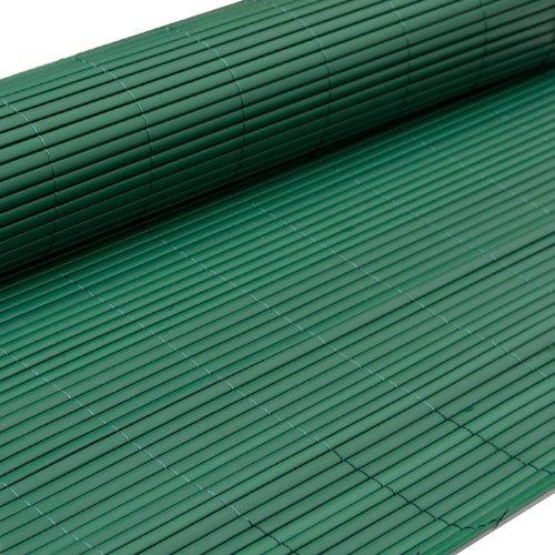 eyepower Canniccio di PVC 180x300cm | Incannucciata di Plastica imitazione canne di bambù | rotolo recinto decorativo | schermo divisorio protettivo paravento privacy ombreggiatura frangivista recinzione giardino | Verde