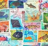 Fische, Baumwolle, bedruckt, Stoff Digiral Print Material
