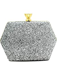 67bb68b05a3 Tooba Handicraft Party Wear Bling Box Clutch Bag Purse For Bridal, Casual,  Party,