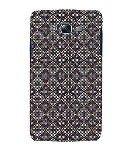 Fuson Premium Back Case Cover Purple colour Hexagon pattern With black Background Degined For Samsung Galaxy Grand i9080:::Samsung Galaxy Grand i9082