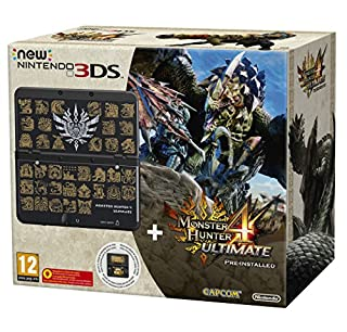 New Nintendo 3DS - Consola, Color Negro + Monster Hunter 4 Ultimate (Preinstalado) + Cubierta Monster Hunter 4 Ultimate (B00XCVLFR6) | Amazon price tracker / tracking, Amazon price history charts, Amazon price watches, Amazon price drop alerts