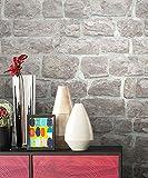 NEWROOM Steintapete grau Vliestapete Jung,Modern,Stein Muster/Motiv schöne moderne und edle Design 3D Optik , inklusive Tapezier Ratgeber