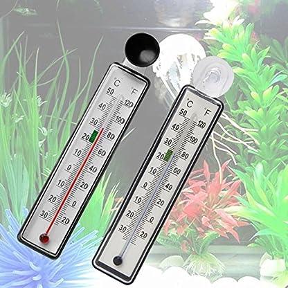 LANDUM Aquarium Fish Tank Thermometer Glass Meter Water Temperature Gauge Suction Cup 2