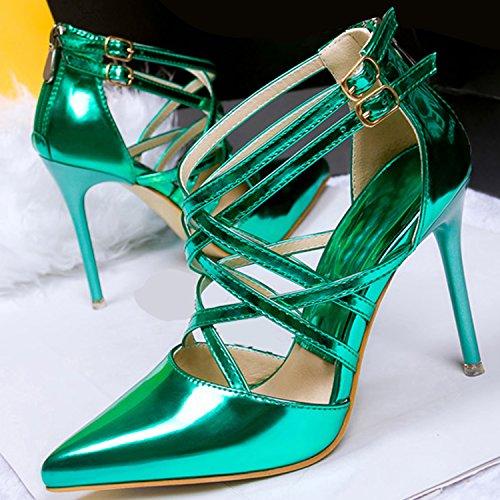 Azbro, Scarpe col tacco donna Verde
