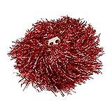 1 paire cheerleading pom poms, prix / 2 pièces, 0.02 kg / pièce, 6 couleurs à choisir - rouge