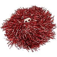 Ayozen - 1 par de pompones para animadoras (mangos con agujeros, 0,02 kg cada uno), 6 colores disponibles rojo rosso