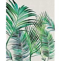 "Summer Thornton ""Palm Leaves"" Canvas Print, Cotton, Multi-Colour, 3.20 x 40.00 x 50.00 cm"