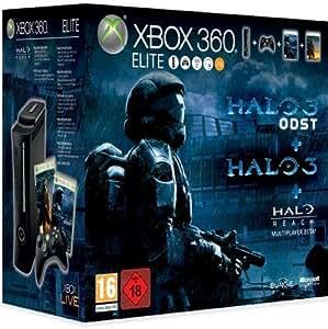 Console Xbox 360 Elite + Halo 3 + Halo ODST