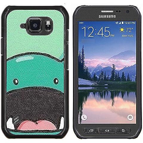 Copertura di plastica Shell Custodia protettiva || Samsung Galaxy S6 Active G890A || dinosauro animale sveglio disegno a fumetti @XPTECH - Sveglio Del Dinosauro