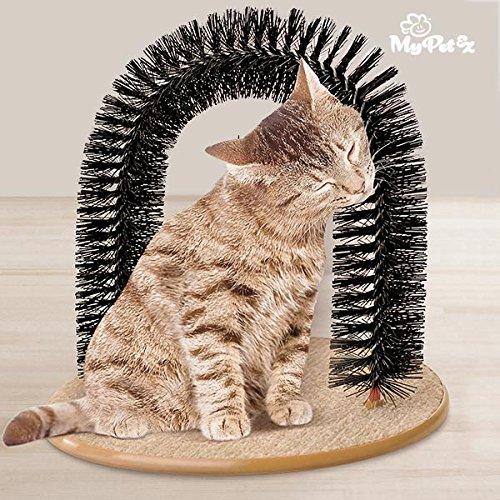 My Petez Massage und Enthaarungsbogen für Katzen, inkl. Katzenminze