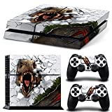 46 North Design Playstation 4 PS4 Folie Skin Sticker Konsole T-Rex aus Vinyl-Folie Aufkleber Und 2 x Controller folie