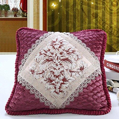 cuscino continentale ricamati motivi floreali, classici cuscini