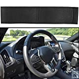 #10: Autofy Universal Premium Finish Leatherite Steering Wheel Cover for All Cars (Black)