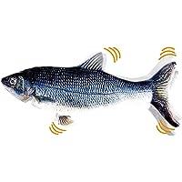 Flippity Fisch, 2 Stück Elektrisches Katzenspielzeug mit USB Kabel, Wiederaufladbar Simulation Fisch, Spielzeug Fisch…
