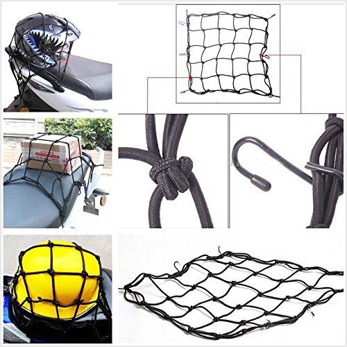 Takestop® Red elástica Porta Objetos Almacenamiento Negro universal a 6ganchos 40x 40cm...