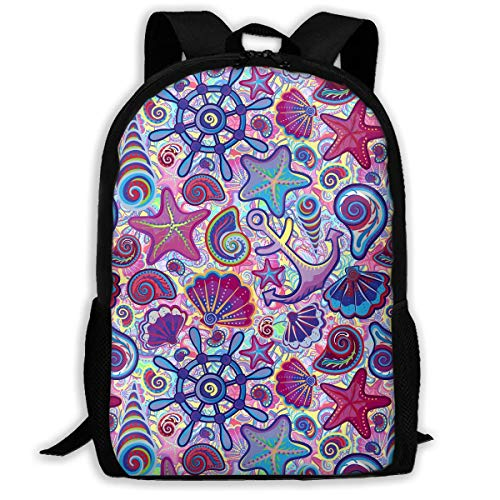 Wfispiy Netter Seerucksack-Kinderkühler Schultaschen-Muster-Mädchen-Jungen-Tagessatz