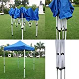 'Amaze' (7'x7') Quick Foldable Gazebo Canopy Display Advertising Tent Outdoor Garden shelter Car Parking Shed (7'x 7')Blue