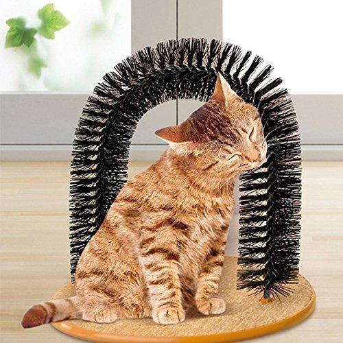 Bbl345dLloRemovedor de Pelo Reutilizable para Mascotas, Arco Creativo para Gatos, Gatitos, cerdas, masajeador, rascador, Juguete de Juego para Mascotas