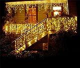 LUCKY CLOVER-AChaînes de lumière solaire Fil en cuivre (32 mètres 300 LED, imperméable à l'eau, 8 modes), Starry String Lights Outdoor, Garden, Homes, Wedding, Christmas Party, Holiday Decoration , Warm White