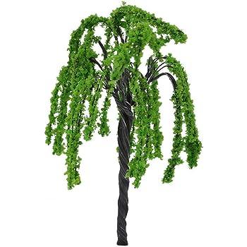 a Cupcinu Miniatur Fairy Garden Mini Willow Tree Landschaft Pflanzen Ornaments Figur Puppenhaus Sukkulente DIY Zubeh/ör Outdoor Home Decor Kunstharz S