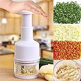 QPJCP Nuova Cucina Gadget premendo vegetale Aglio Cipolla Coltello trinciatore Slicer sbucciatore trinciatutto Bianco per Utensili da Cucina