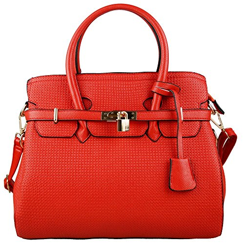 Miss Lulu – Stile vintage boston Tote/Borsa a tracolla/borsetta Red