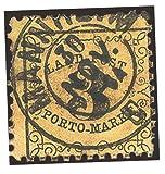 Goldhahn Altdeutschland gestempelt mit Baden Portomarke Nr. 2 Briefmarken für Sammler