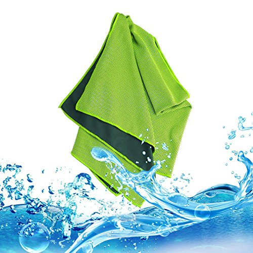 First2savvv verde Riutilizzabile immediato sollievo Asciugamano raffreddamento per sport, fitness, l'attività porta, Gym & Yoga -