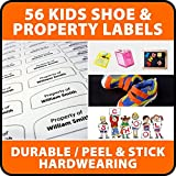 56 Waterproof PVC & SHOE Name Labels School Name Tags