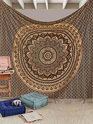 esclusiva-indiano-handmade-tapestrries-by-raajsee-ombre-biancheria-da-letto-motivo-mandala-regina-mu