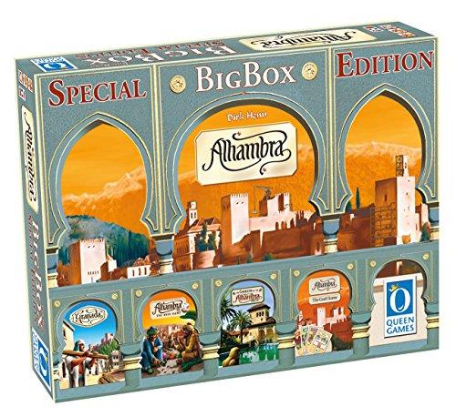 Queen Games 10132 - Brettspiel, Alhambra Big Box Special Edition, bunt (Die Bauherren Brettspiel)