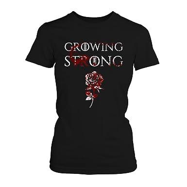 Fashionalarm Damen T-Shirt - House Tyrell Growing Strong   Fan Shirt mit Haus  Motto Spruch als Geschenk Idee zur GoT Serie   Kräftig wachsen: Amazon.de:  ...