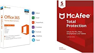 Microsoft Office 365 Home Mcafee Total Protection 5 Geräte Software