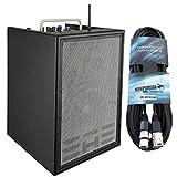 Elite Acoustics A4BR8 4-Kanal Akustik Verstärker + KEEPDRUM Mikrofonkabel 6m