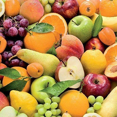 toile cirée nappe table au mètre fruits fruits c147050 taille SÉLECTIONNABLE en carré rond ovale - Bariolé, 100 cm rund