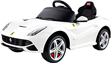 rastar 12v licensed ferrari berlinetta kids electric ride on car with parental control red