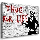 Image sur toile Banksy Graffiti Art Nr de 272976mural XXL Photos et Wallfillers Canvas images de toile montée sur cadre en bois-Dimensions au choix. pas poster ou Affiche/Moins cher comme peinture à/toile, châssis images, Bild - 150x100cm