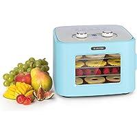 KLARSTEIN Tutti Frutti - Déshydrateur automatique, puissance:400 W, température:35-80 °C, 4 plateaux en inox, capacité…