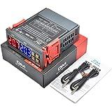 diymore STC-3008 Digitale temperatuurregelaar, thermostaatregelaar met dubbele NTC-sondekoelerverwarming, Temperatuurregelaar