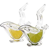 ROYIYI Lot de 2 Presse Citron Individuel Design Deluxe, Presse-citron Presse-agrumes Manuel Presse à Main Vaisselle en…
