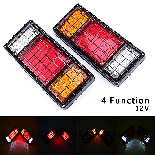 Preisvergleich Produktbild motorfansclub 12V LED hinten Rücklicht + Guard Truck Trailer LKW Chassis Wagon Stop Rückseite (2)