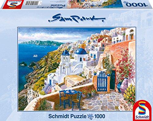 Preisvergleich Produktbild Schmidt 58560 Puzzle Blick von Santorin
