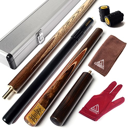 CUESOUL-57-Handcraft-34-Jointed-Snooker-Cue-with-Mini-Butt-End-Extension-Packed-in-Aluminium-Cue-Case