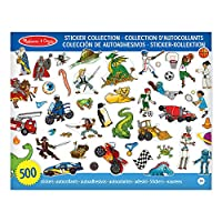 Melissa & Doug Sticker Collection Book, Arts and Crafts, Dinosaurs, Vehicles, Space, and More (500+ Stickers)