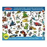 Melissa & Doug Stickersammlung - Dinosaurier, Fahrzeuge, Weltraum und mehr (500 Sticker)