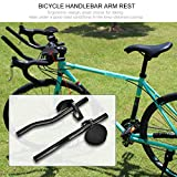 Zerone bicicletta manubrio bracciolo, lega di alluminio bracciolo TT ciclismo resto rilassamento barre manubrio Tri clip per biciclette da strada di montagna