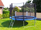 Trampolin mit Sicherheitsnetz, inklusive Leiter und Randabdeckung Gartentrampolin 250, 305, 370, 400, 430cm (12FT / 370cm)