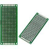 ARCELI 10PCS (3 x 7 cm) Placa PCB Universal de Doble Cara de prototipos Placa de Circuito Panel de circuitos para Soldadura d